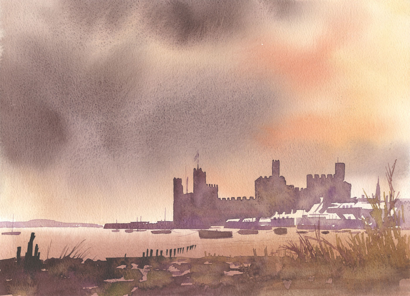 Robert T. Blayney (1929-2016) - Mid 20th Century Watercolour, Castle View
