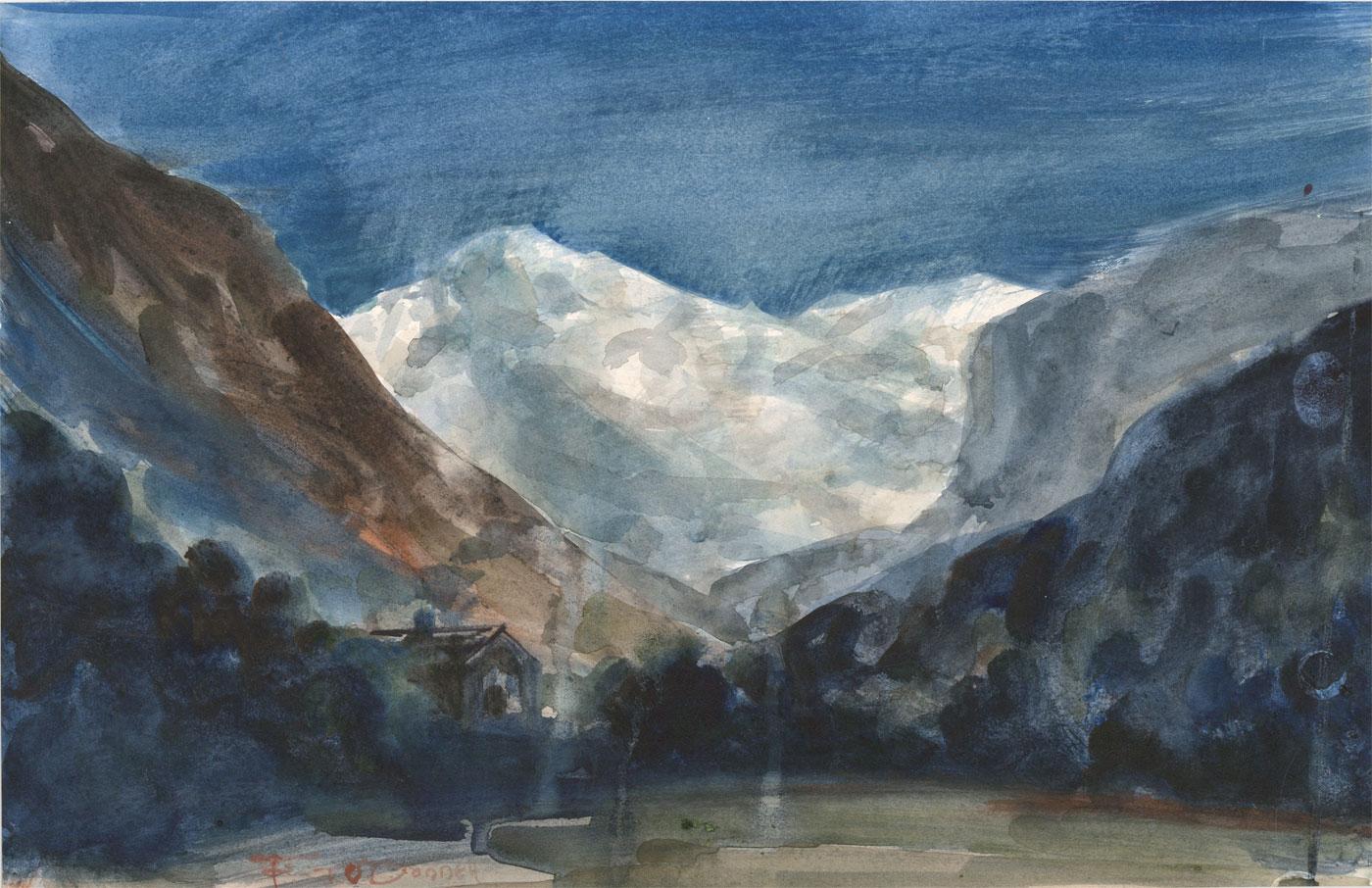 T. O'Donnell - 20th Century Watercolour, Alpine Landscape