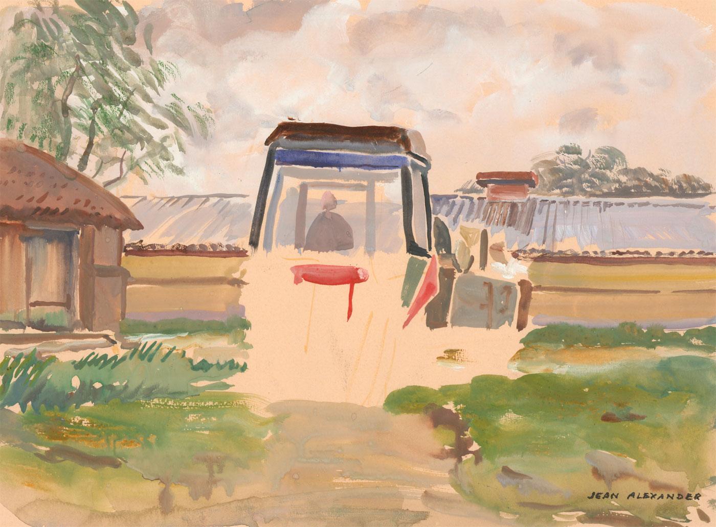 Jean Dryden Alexander (1911 - 1994) - Two Signed Watercolours, Rural Landscapes