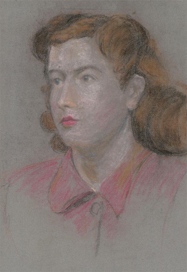 E.W. Parsonage - Mid 20th Century Pastel, Portrait of a Young Woman