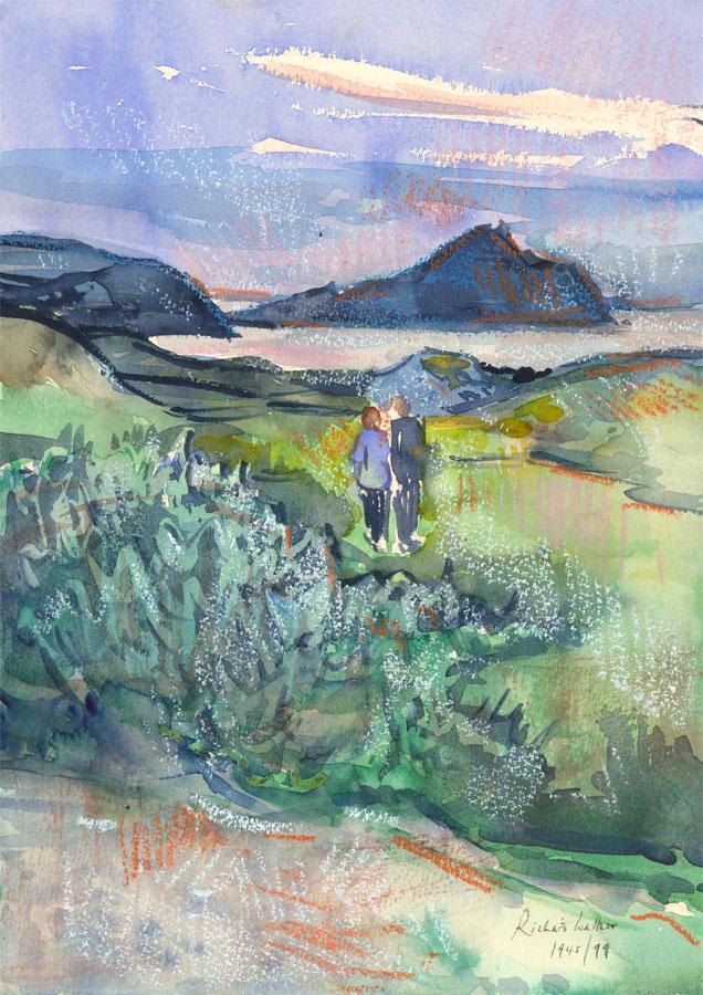 Richard Ian Bentham Walker (1925-2009) - 1999 Watercolour, The Channel Islands