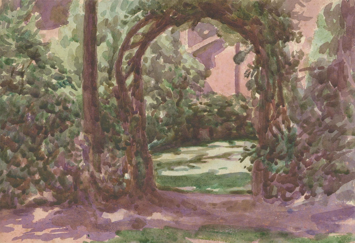 Harold Hope Read (1881-1959) - Early 20th Century Watercolour, The Garden Gate