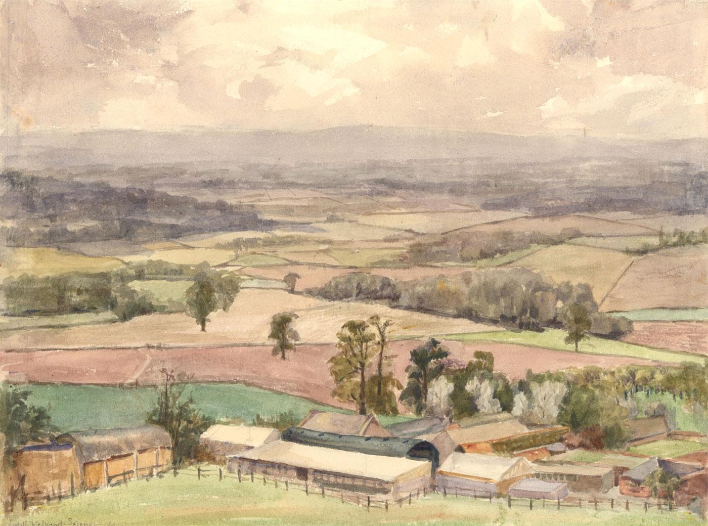 Judith Walrond-Skinner - Signed 1961 Watercolour, Newbury Cottage, Somerset