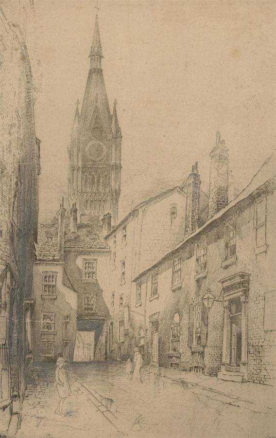 Frank Lovel Trafford Hamer Greenwood (1883-1954) - Etching, Preston Street