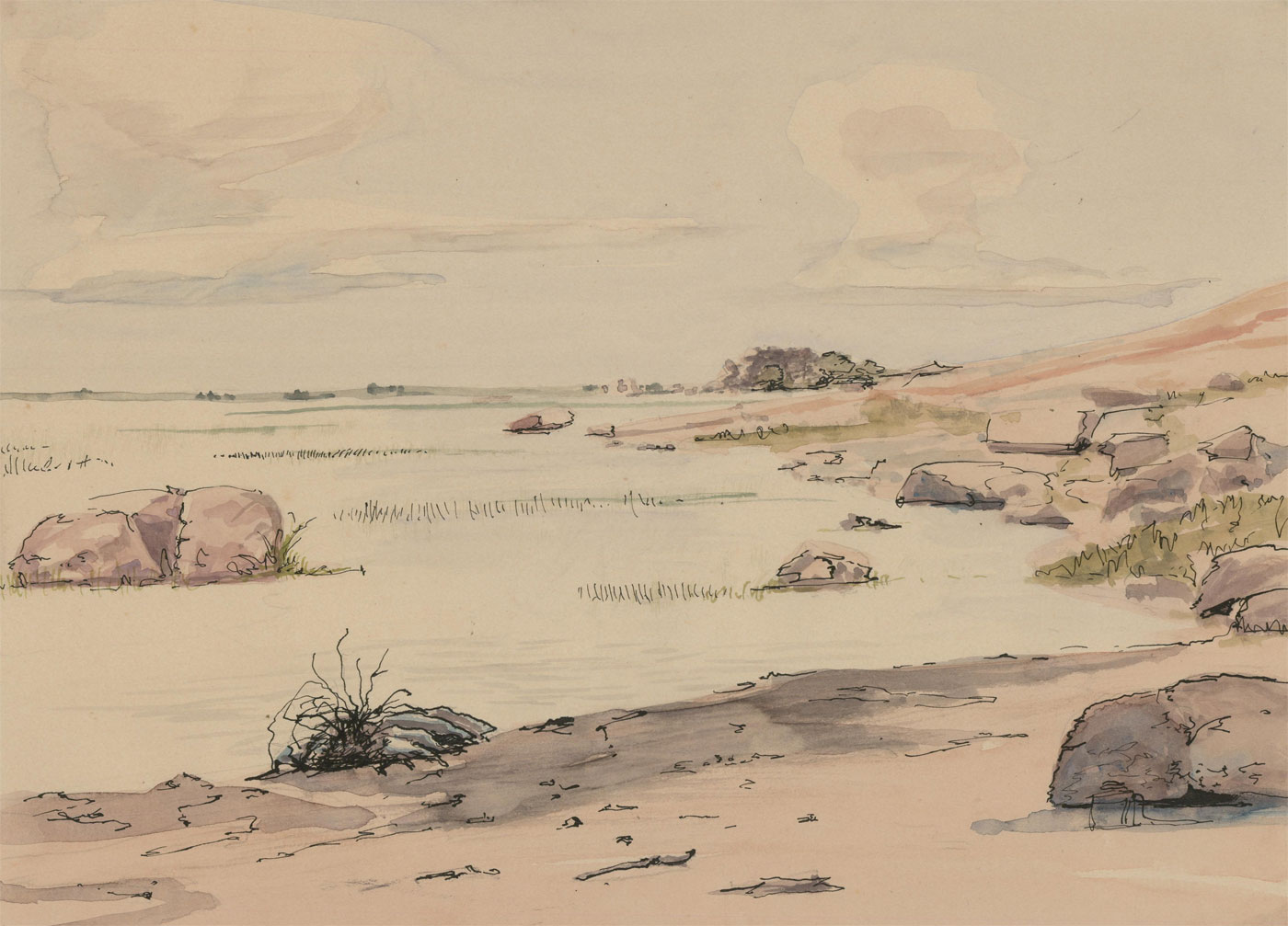 John H.B. Irving (1924-2016) - 20th Century Watercolour, Rocky Landscape
