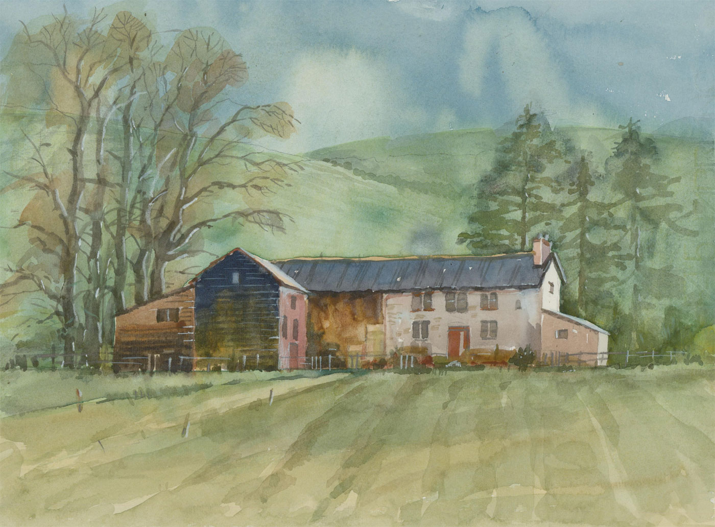 Clifford H. Thompson (1926-2017) - 20th Century Watercolour, Farm Cottage