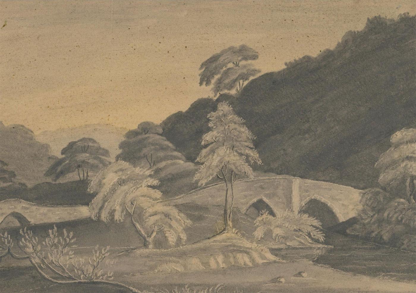 Mid 19th Century Gouache - A Classical Landscape