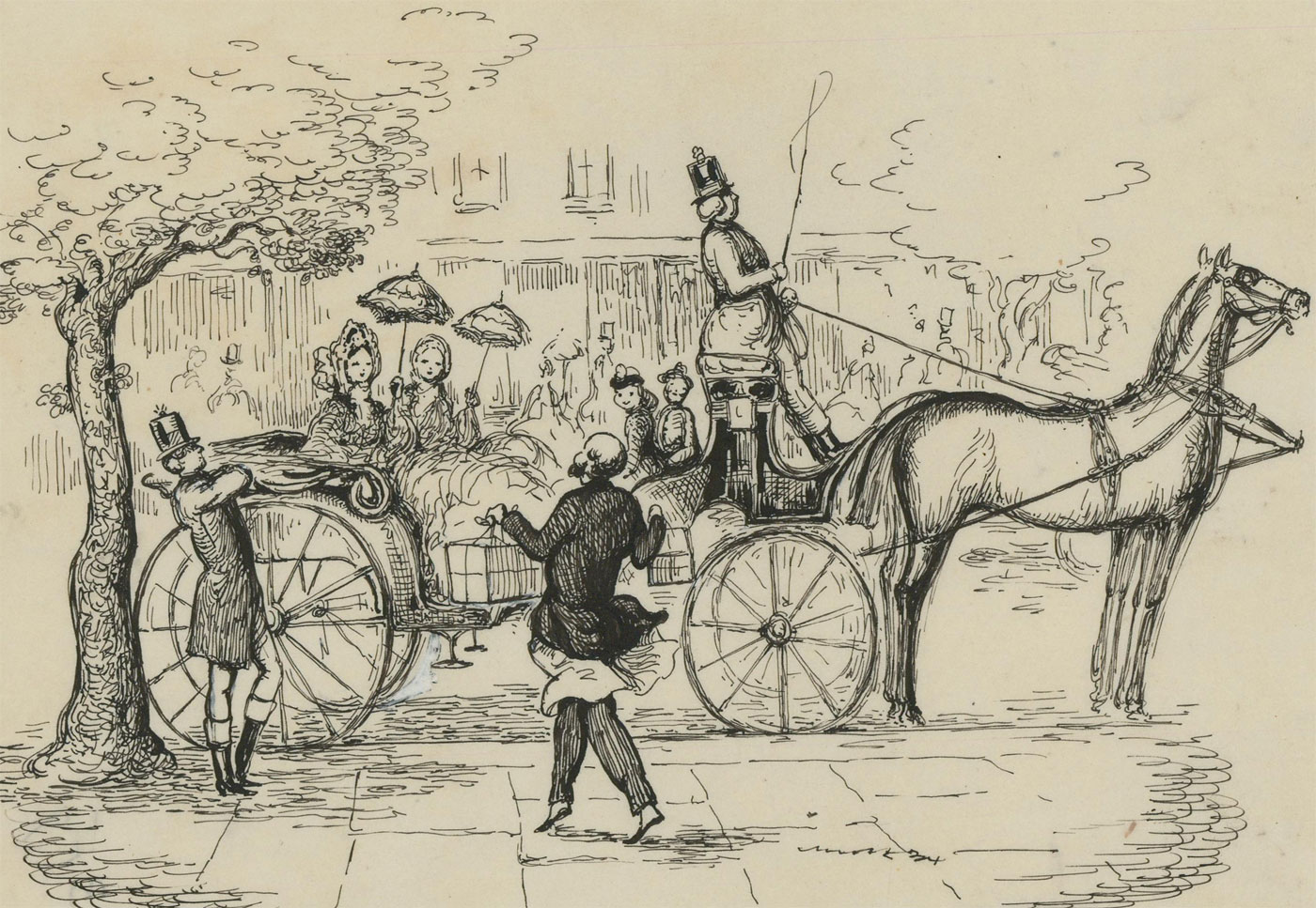 Harold Hope Read (1881-1959) - Signed Pen and Ink Drawing, The Outing