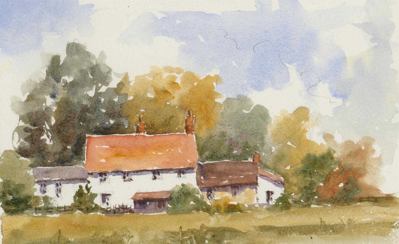 John A. Case - 20th Century Watercolour, Summer Cottage