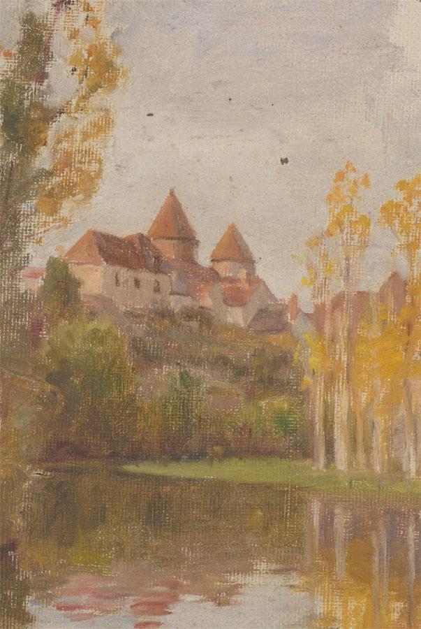 20th Century Oil - Bavarian River Scene