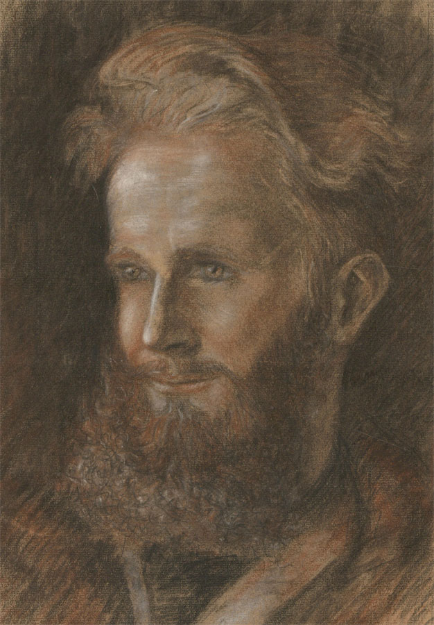 Early 20th Century Pastel - Expressive Study of a Man