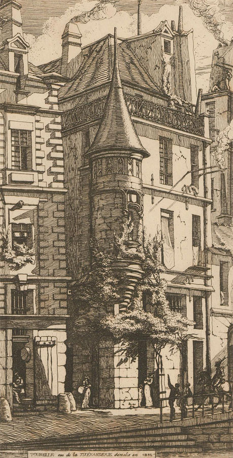 Charles Meryon - Early 20th Century Photogravure, Rue de la Tixeranderie