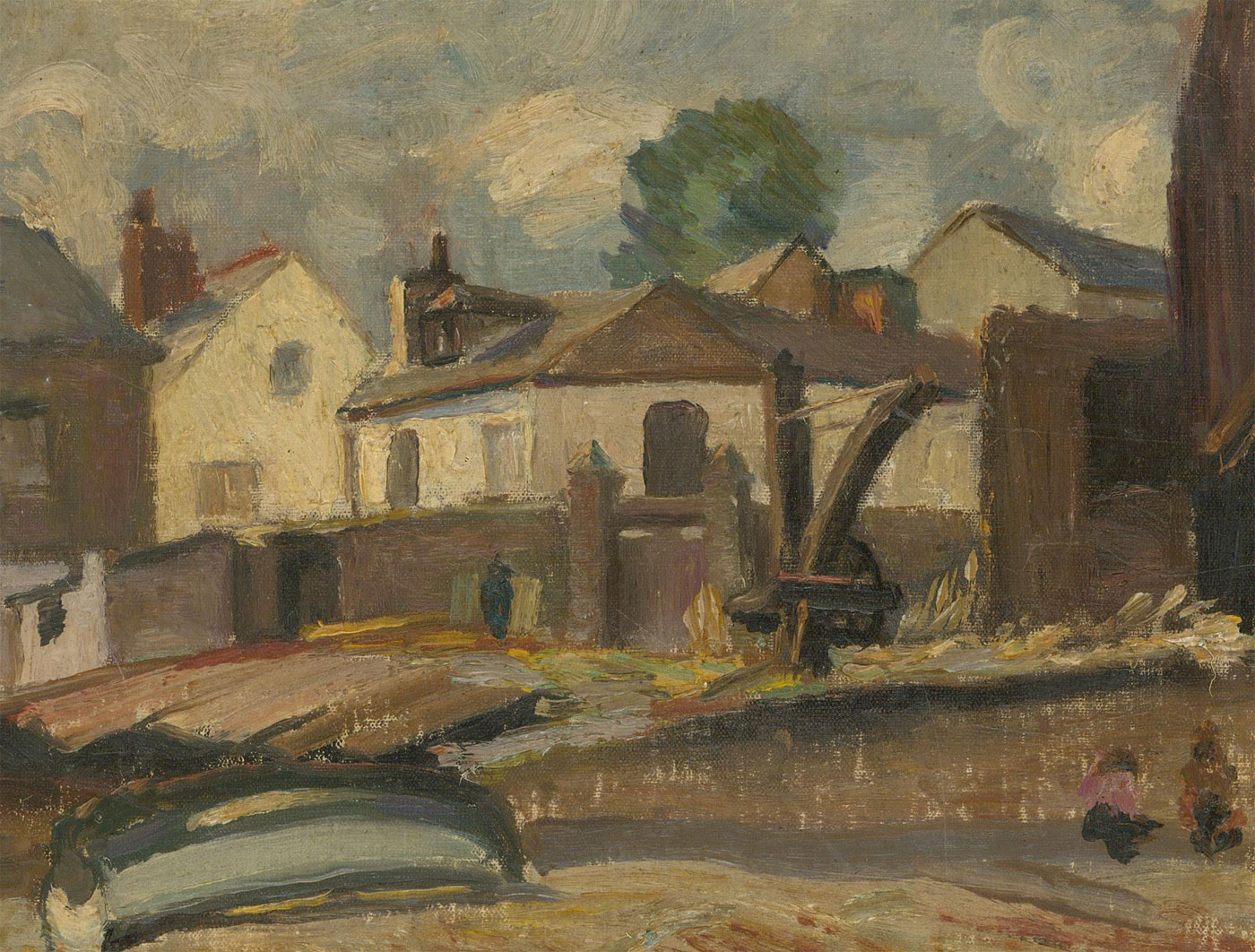 Alfred Henry Robinson Thornton NEAC (1863-1939) - 1925 Oil, Old Houses Appledore