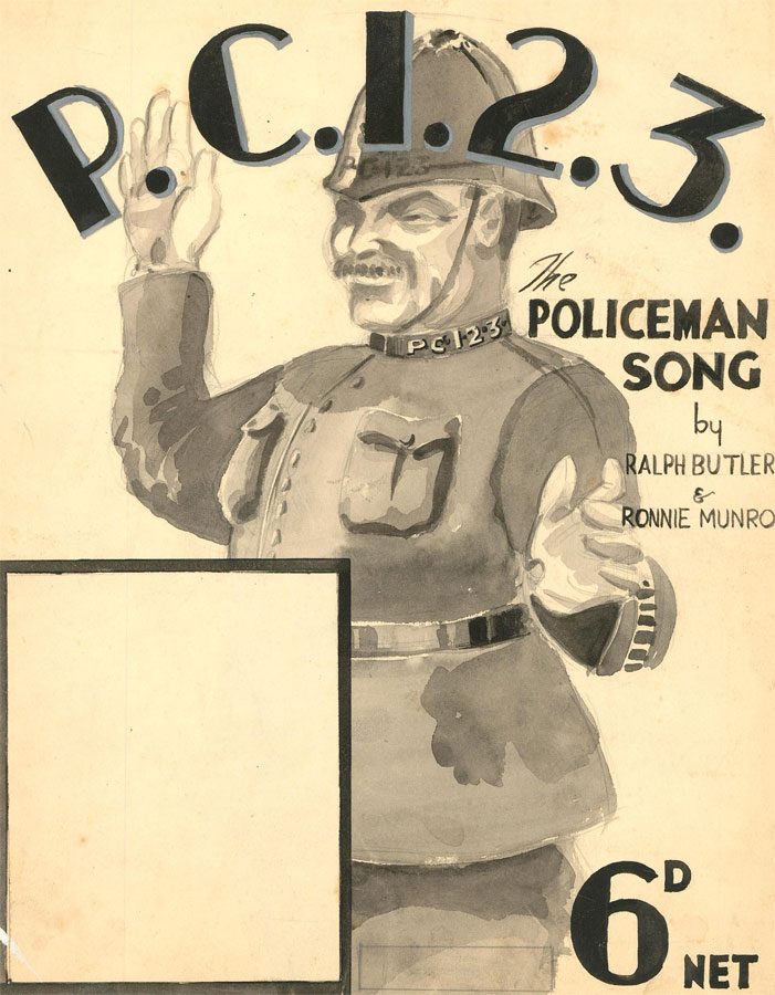 Malcolm Rogers - Early 20th Century Mixed Media, The Policeman Song