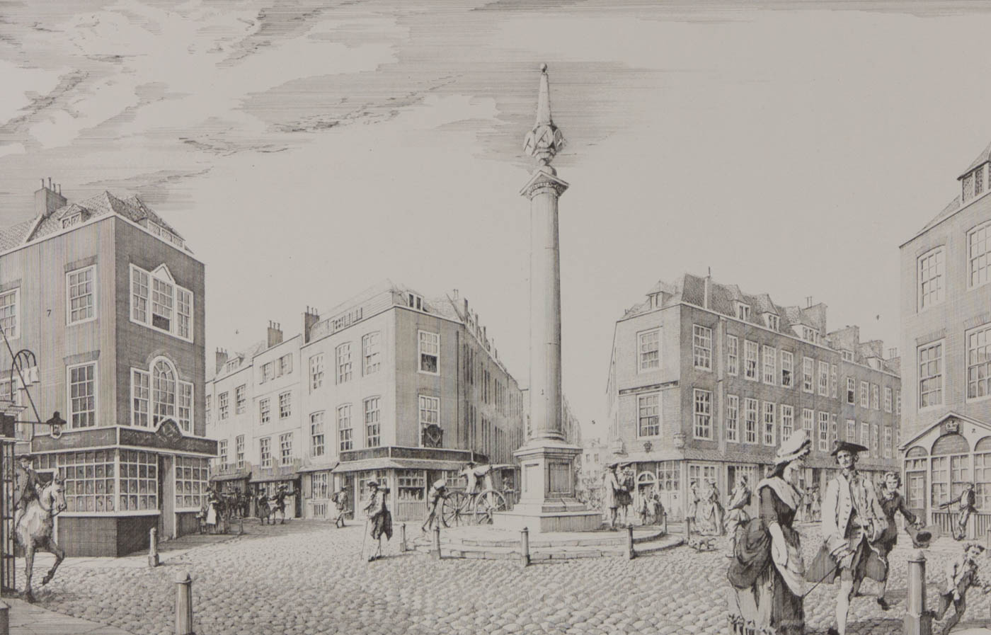 Paul Draper - Signed 20th Century Etching, even Dials, London
