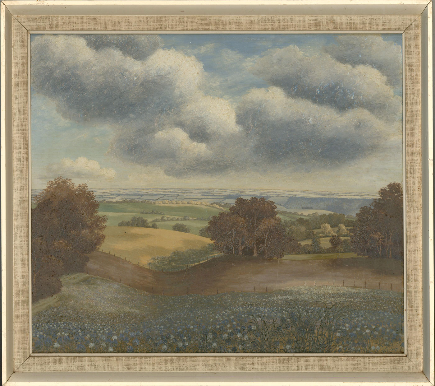 Ronald A. Broad - 1961 Oil, Landscape from Cross Lanes