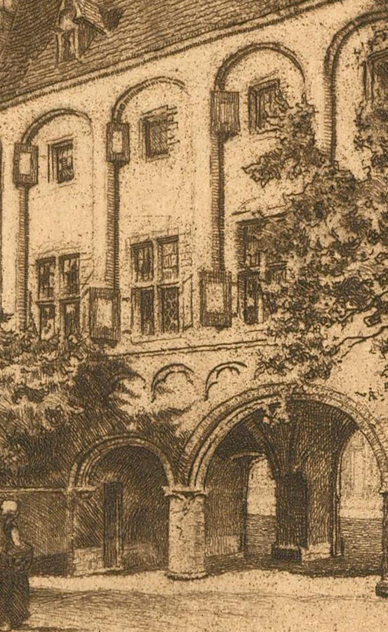 Early 20th Century Etching - Middleburg Abbey