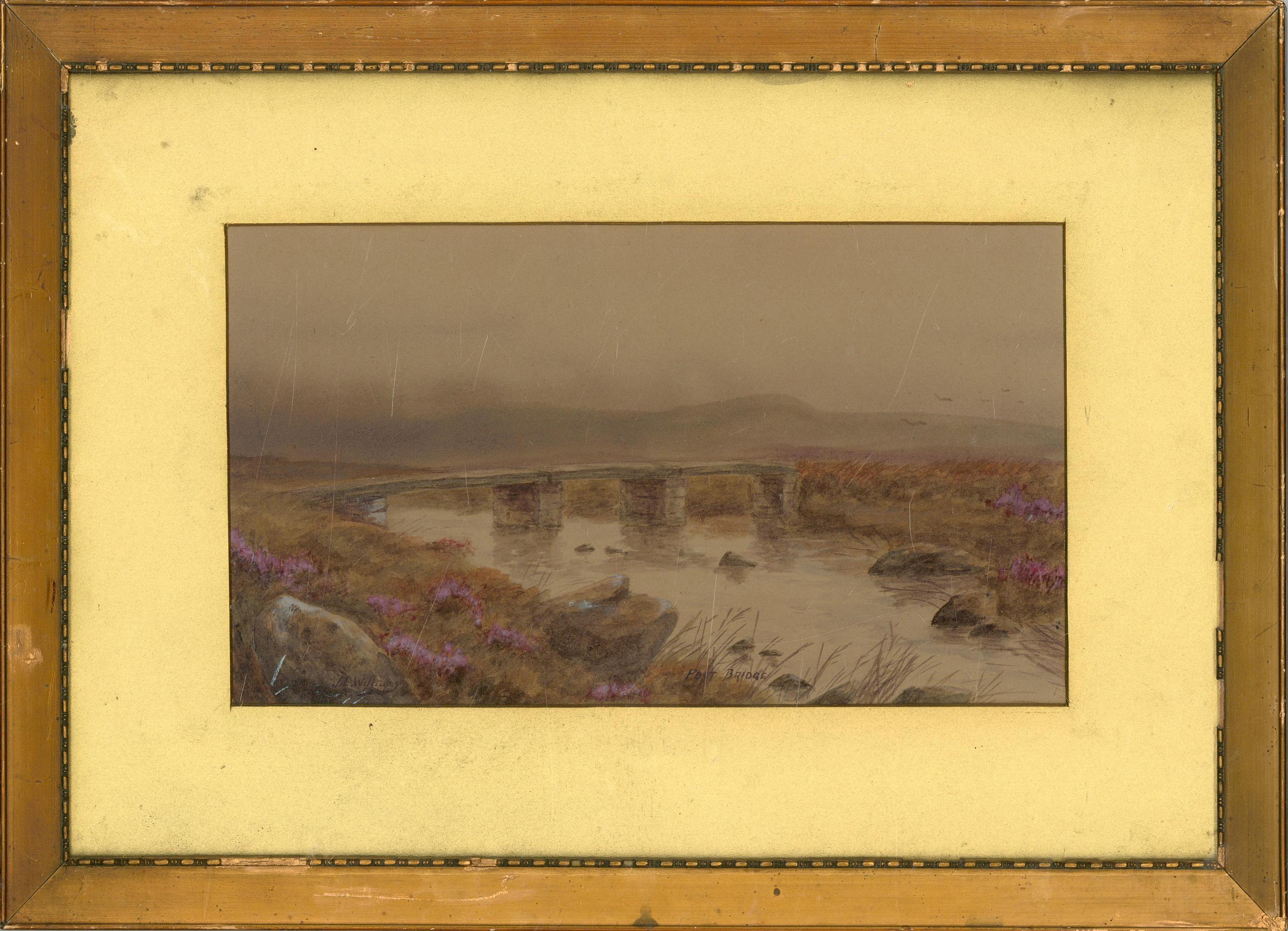 J.L. Williams - Late 19th Century Watercolour, Post Bridge