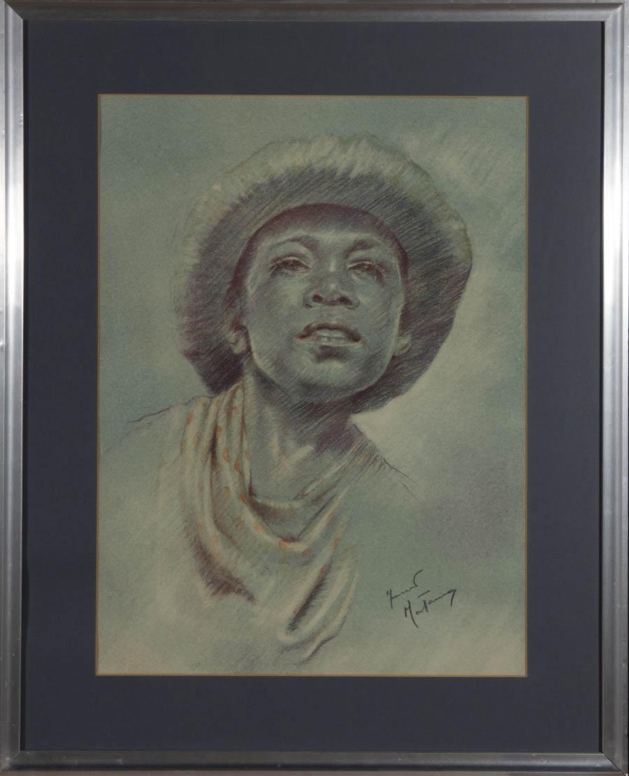 Franco Matania - Mid 20th Century Pastel, Pacific Island Boy