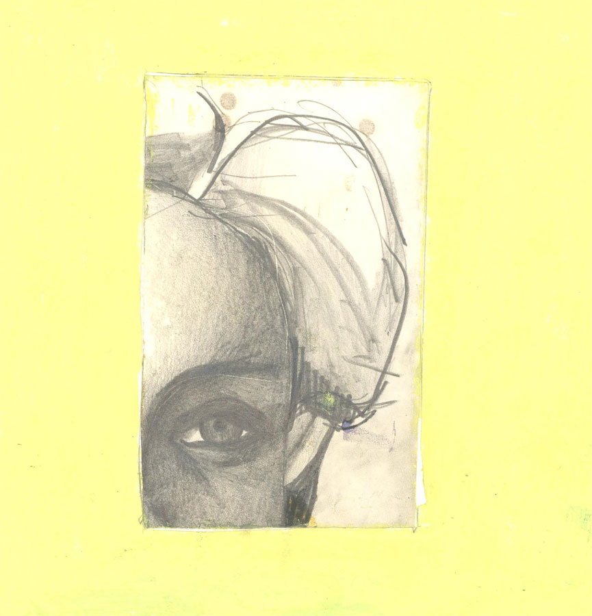 Ben Carrivick - Two Signed Contemporary Graphite Drawings, Intimate Portraits