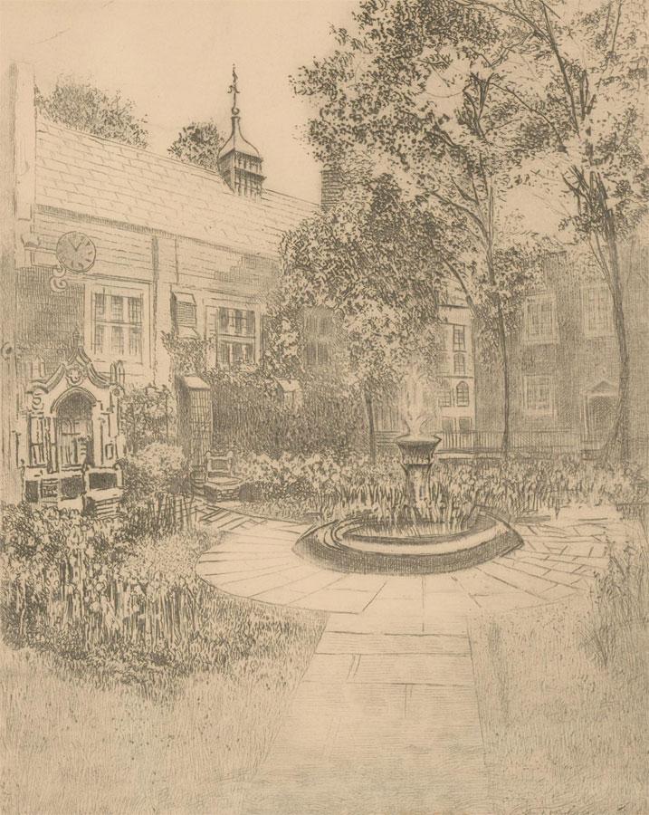 Early 20th Century Etching - Staple Inn, London