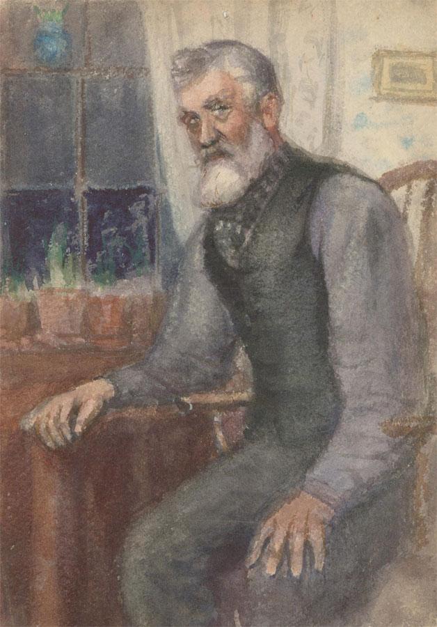 Early 20th Century Watercolour - Portrait of an Elderly Gentleman