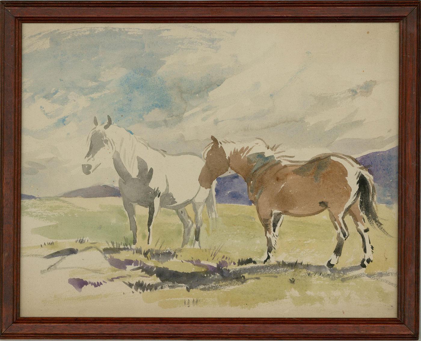 Attrib. John Murray Thomson (1885-1974) - Early 20th Century Watercolour, Horses