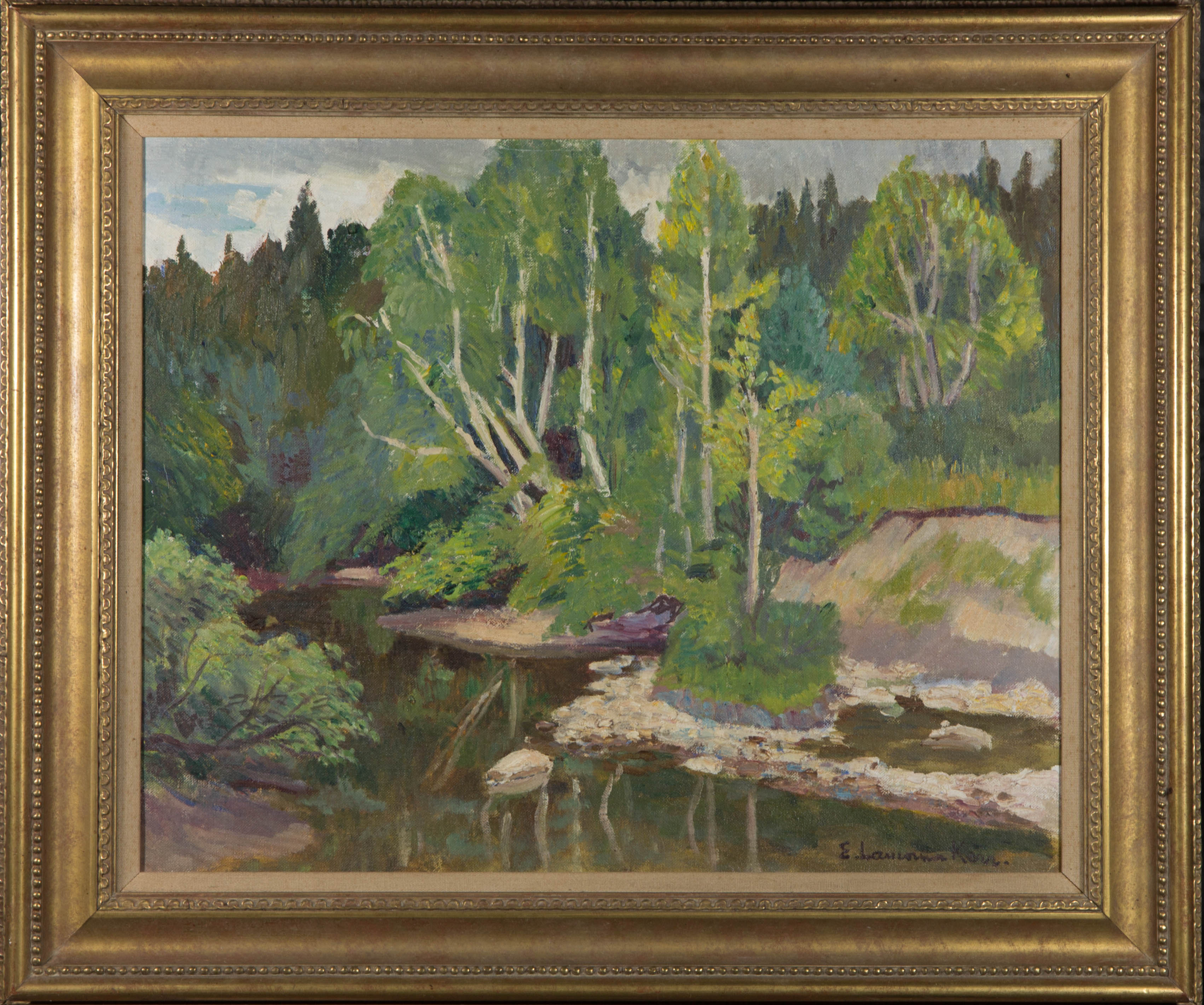 Elizabeth Lamoma Kerr (1905-1990) - Signed & Framed Mid 20th Century Oil, Creek