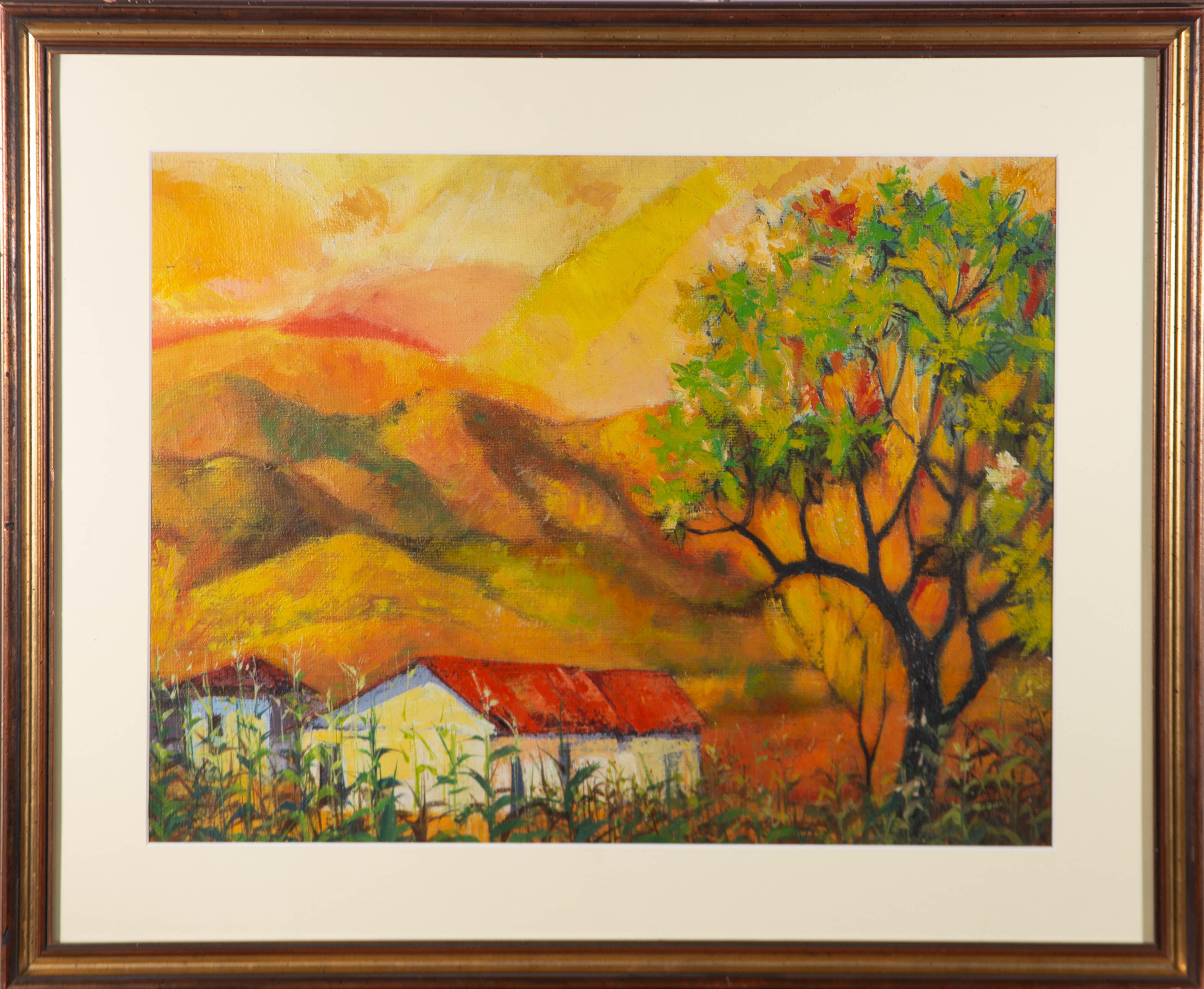 Ken Abendana Spencer (1929-2005) - Framed 20th Century Acrylic, Jamaican Sunset