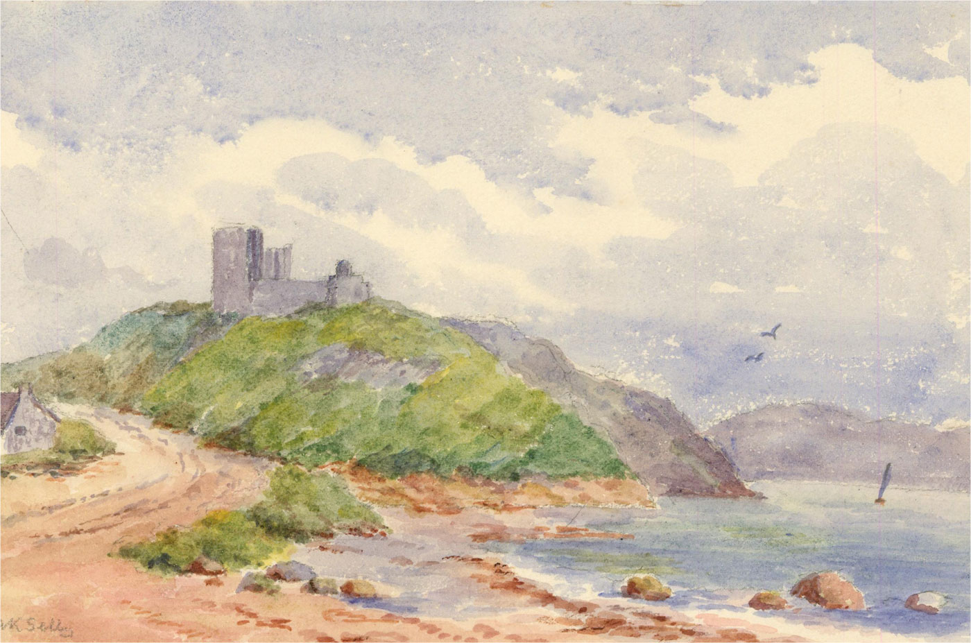 Amy K. Selby (fl.1892-1926) - Signed Early 20th Century Watercolour, Castle View