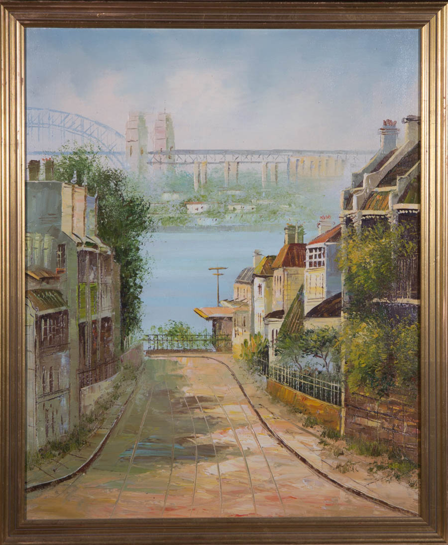 20th Century Acrylic - Town Before Water