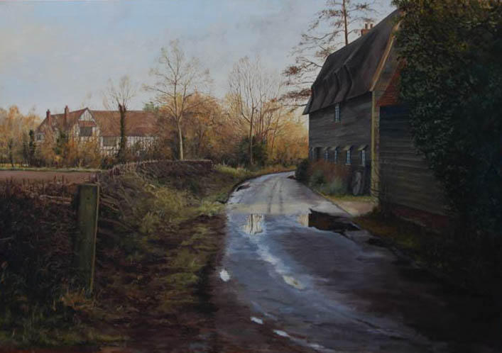 L Pettersson - 1996 Oil, A Country Lane After The Rain