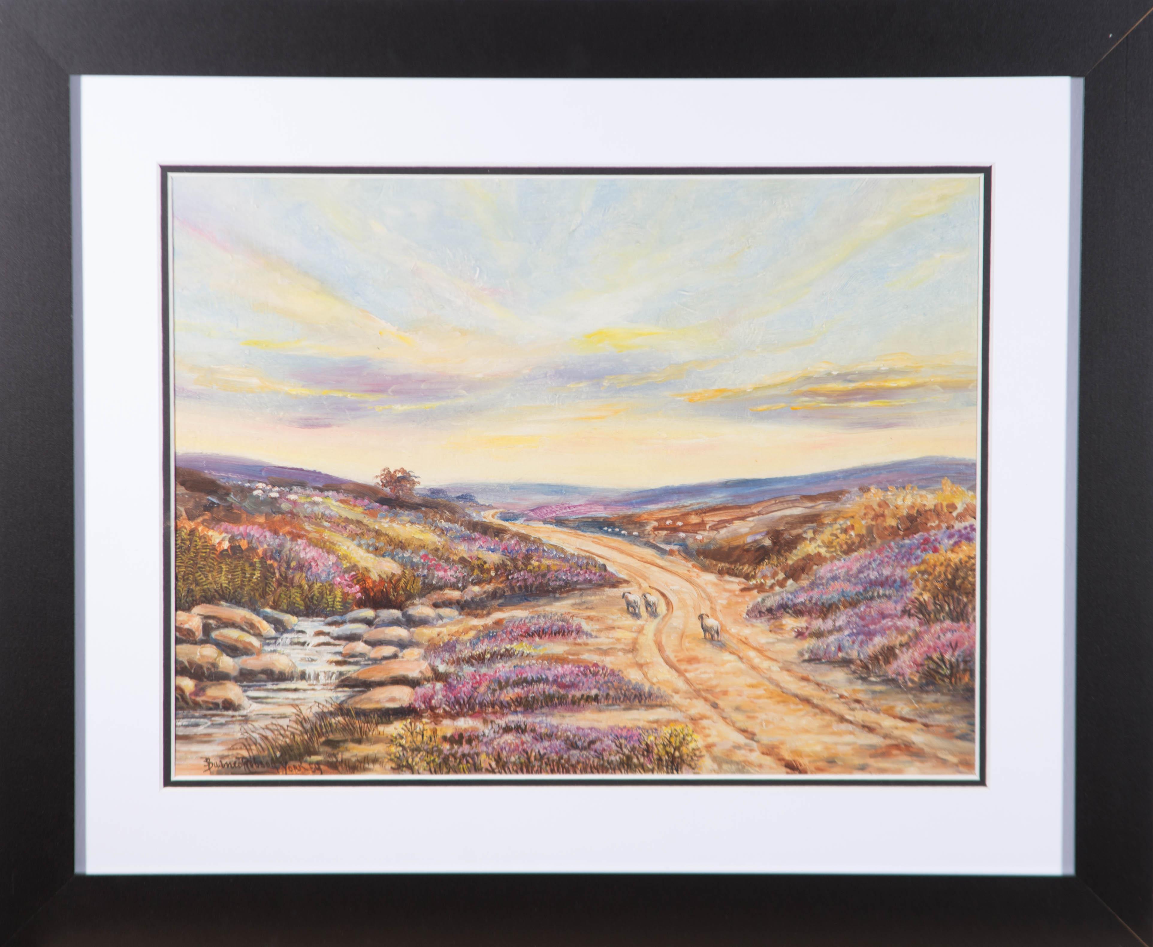S. Barnes Robson (1900-1973) - 1959 Oil, On The Moors Near Whitby