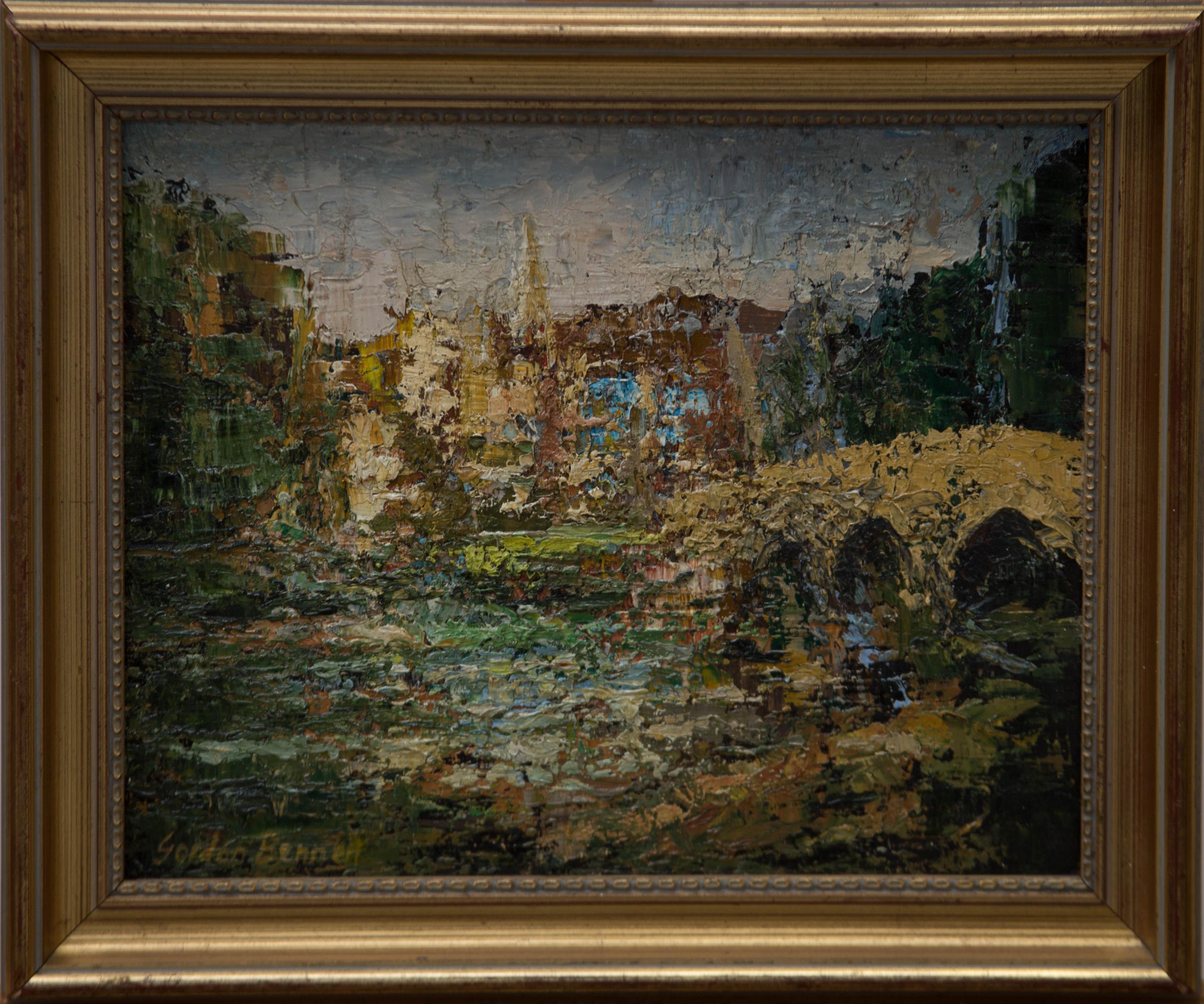 Gordon Bennett - Signed & Framed Mid 20th Century Oil, Bakewell Bridge