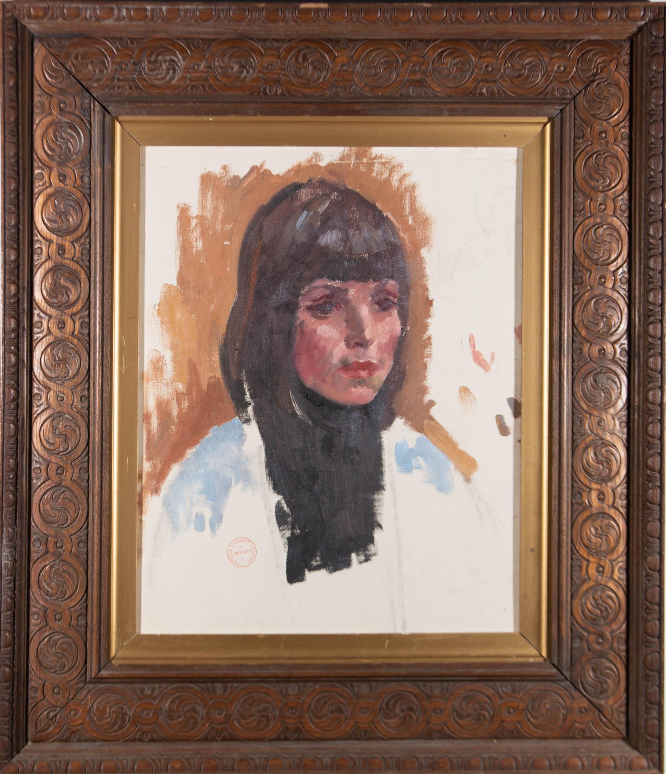 Patrick Lambert Larkin (1907-1981) - Mid 20th Century Oil, Young Woman, Study