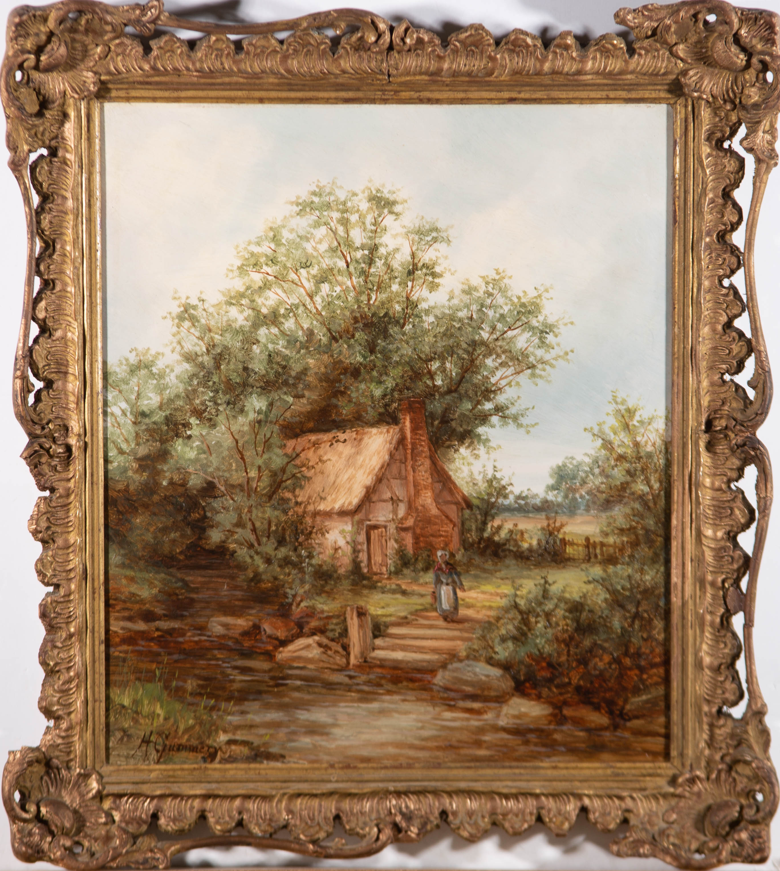 Henry Gummery - Signed & Framed Early 20th Century Oil, Old Storridge