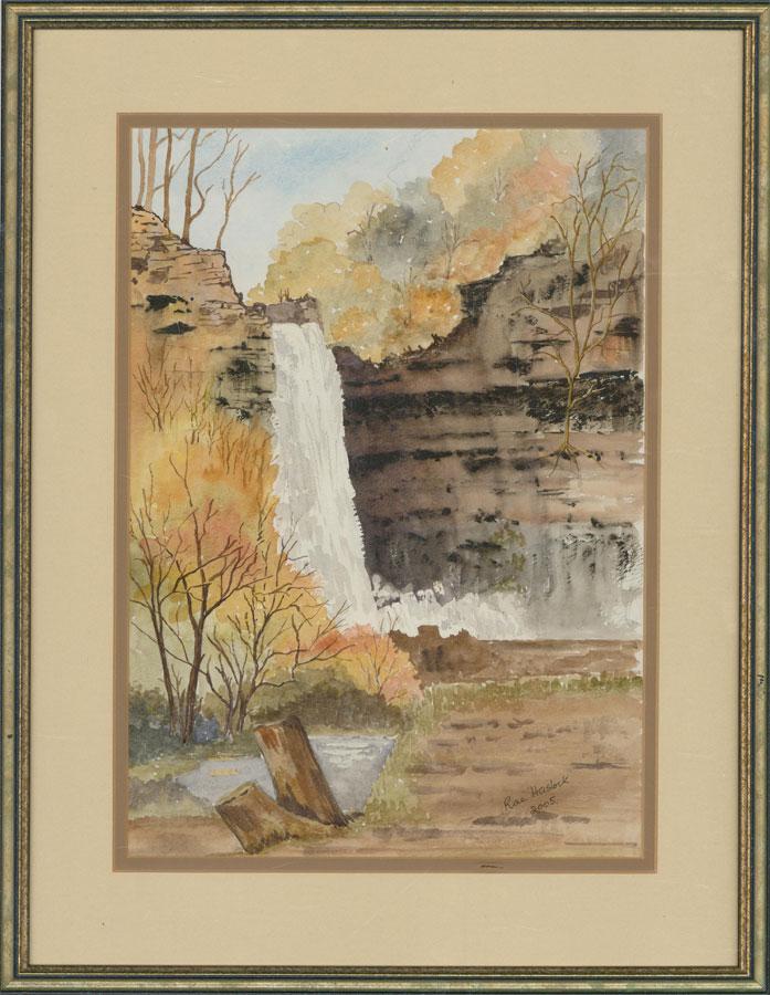 Rae Haslock - 2005 Watercolour, Hardraw Falls