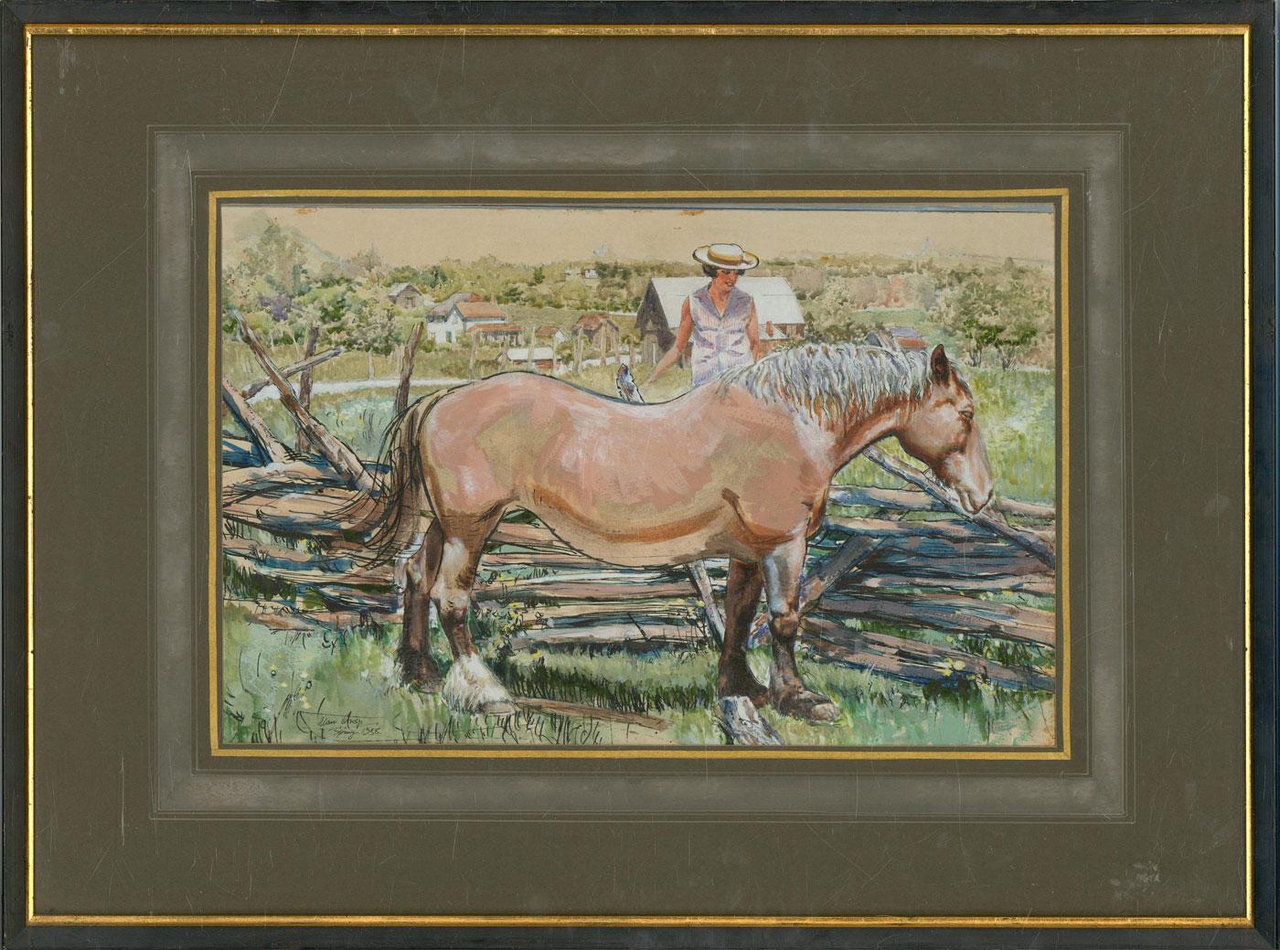 Alan Crisp - Signed & framed 1958 Watercolour, Spring