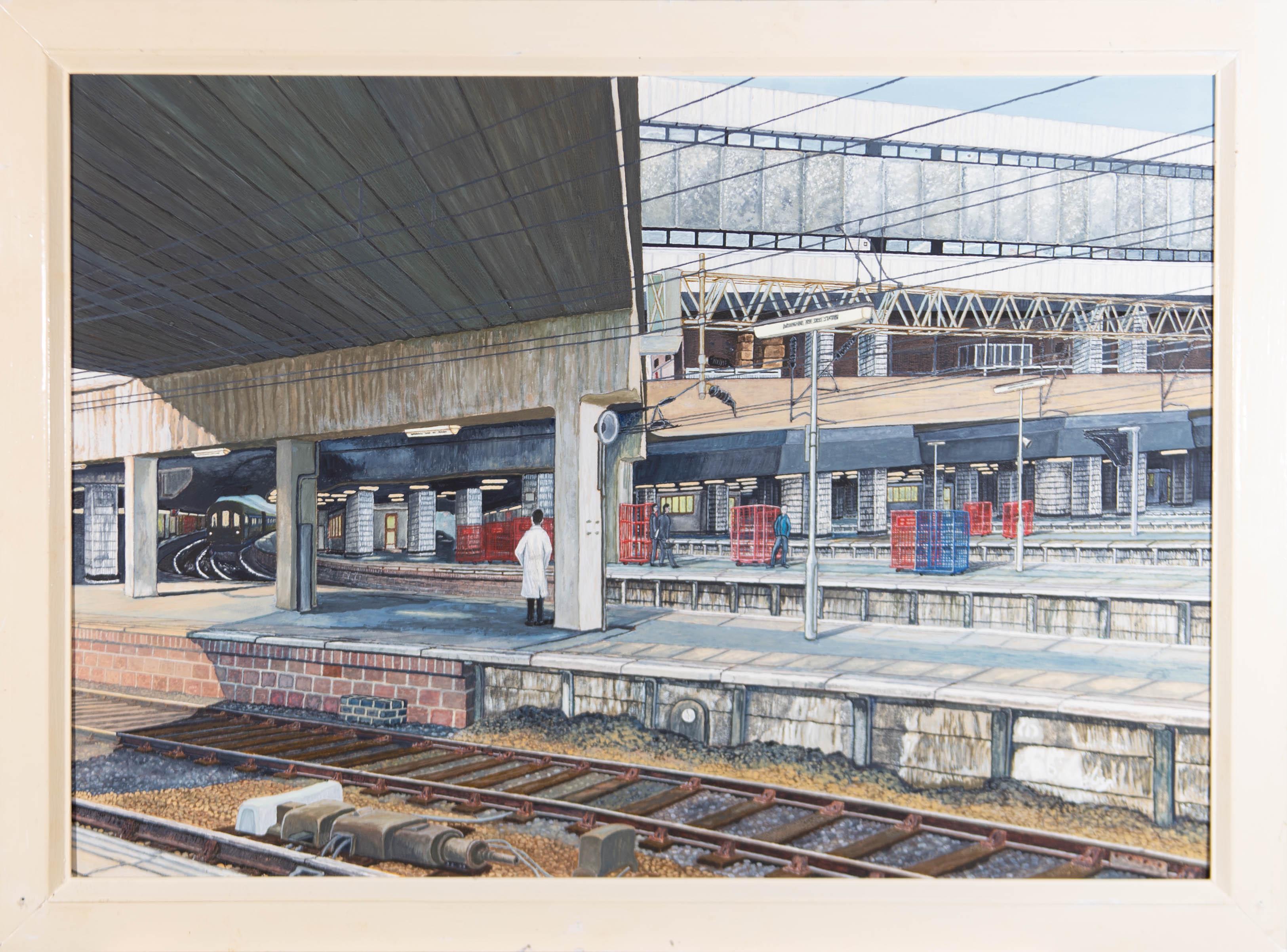 Paul Douglas Bransby - 1989 Acrylic, Birmingham Train Station