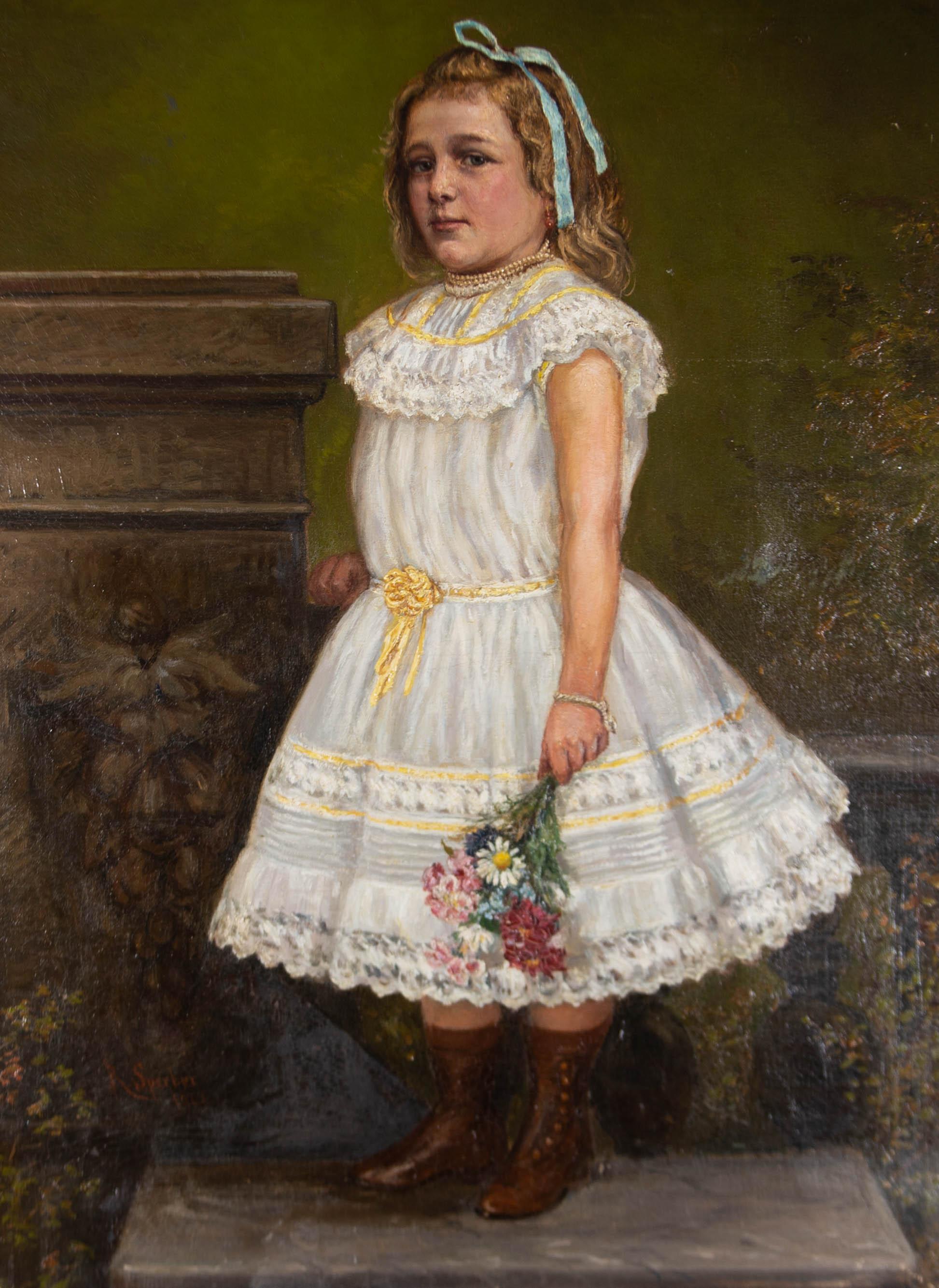 R. Sperber - 1902 Oil, The Party Dress
