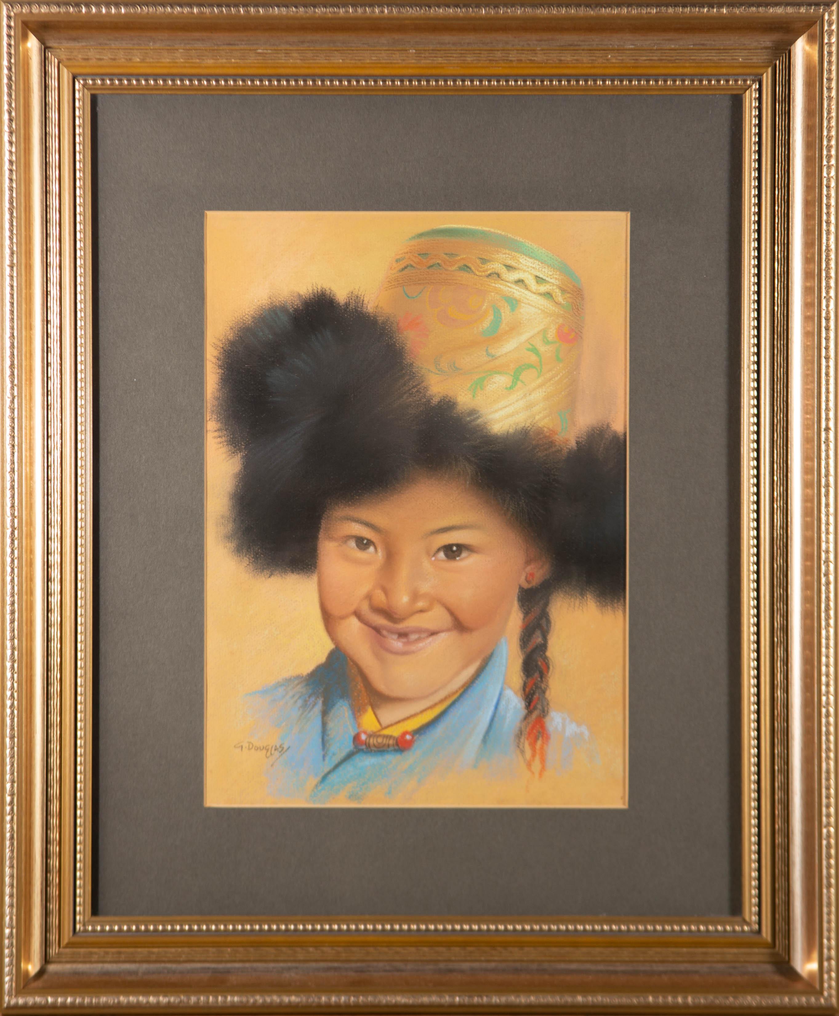 Goray Douglas (1920-1976) - 20th Century Pastel, Young Tibetan Girl