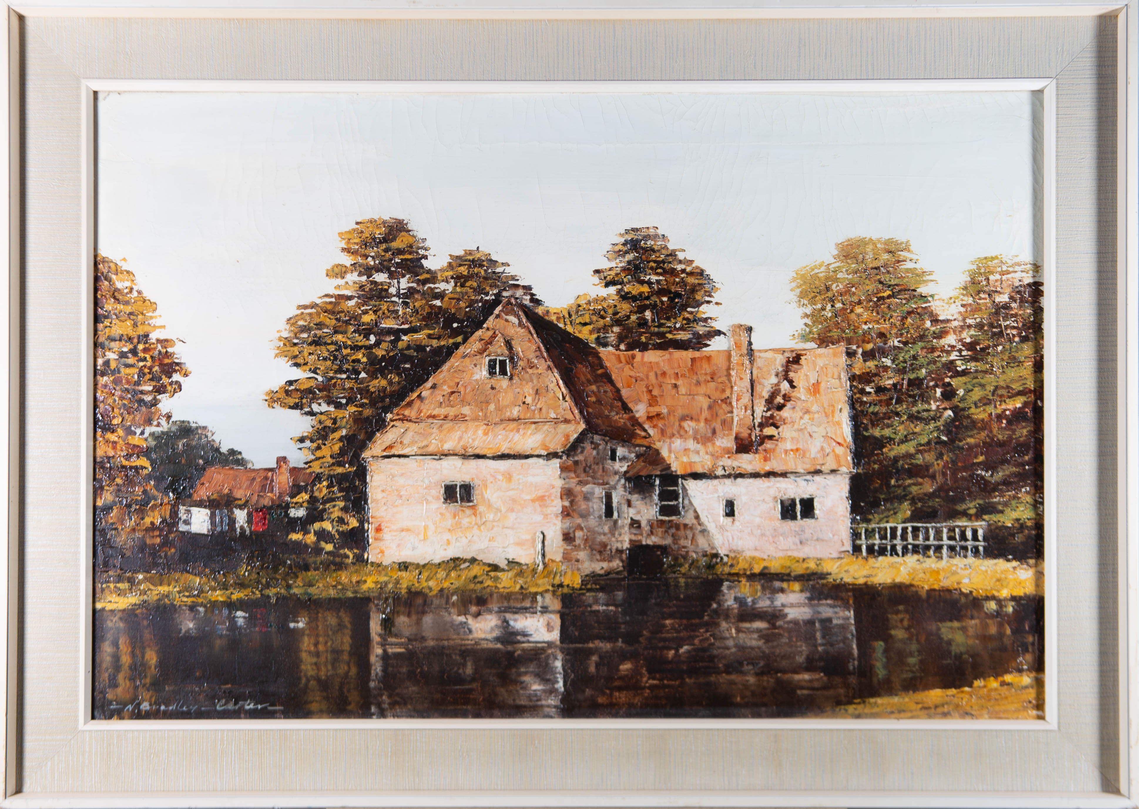 N. Bradley Carter RA - Signed & Framed Mid 20th Century Acrylic, The Old Mill