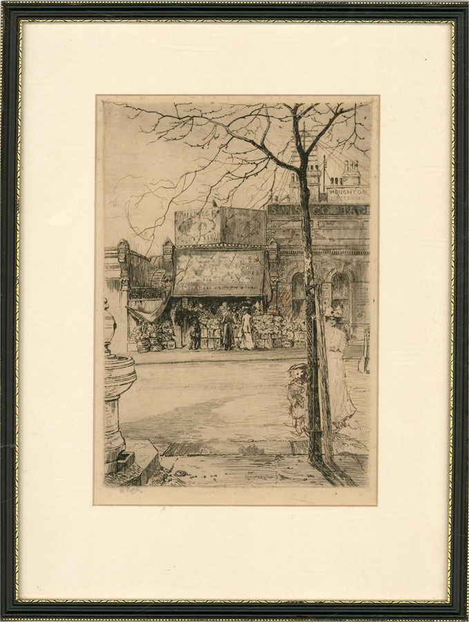William Monk RE (1863-1937) - Late 19th Century Etching, Swiss Cottage