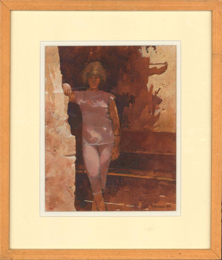 Michael D. Hill (b.1951) - 20th Century Watercolour, Standing Figure
