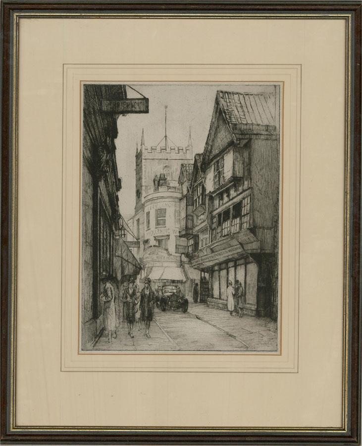 Walter M. Skenes (1886-1969) - 1929 Etching, Mary Port Street