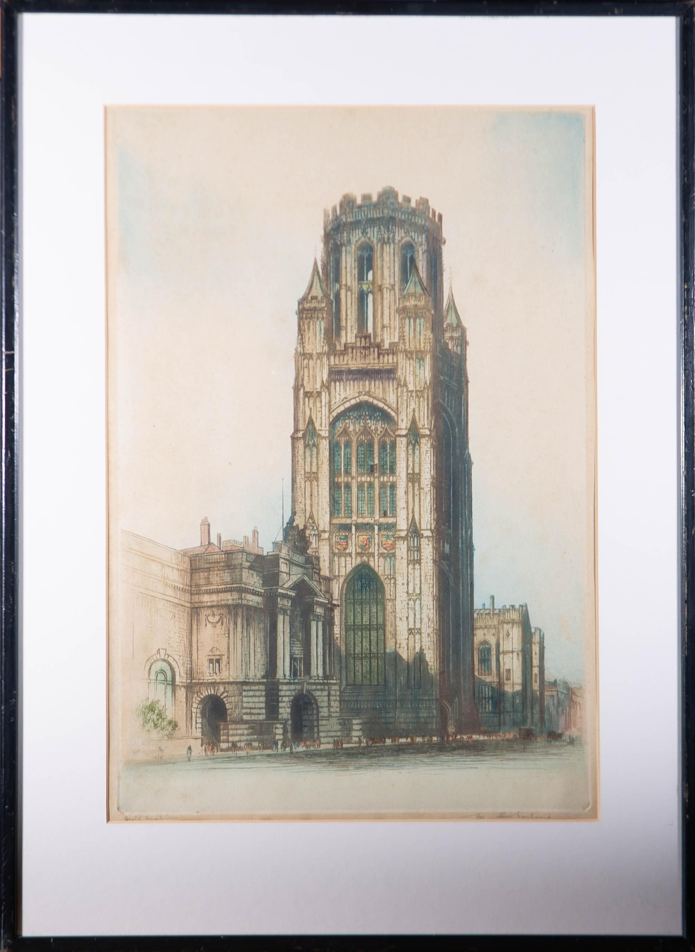 Edward Sharland (1884-1967) - Early 20th Century Etching, Bristol University