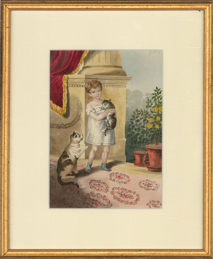 Sophia Stansbury - Early 19th Century Watercolour, Portrait of a Young Boy