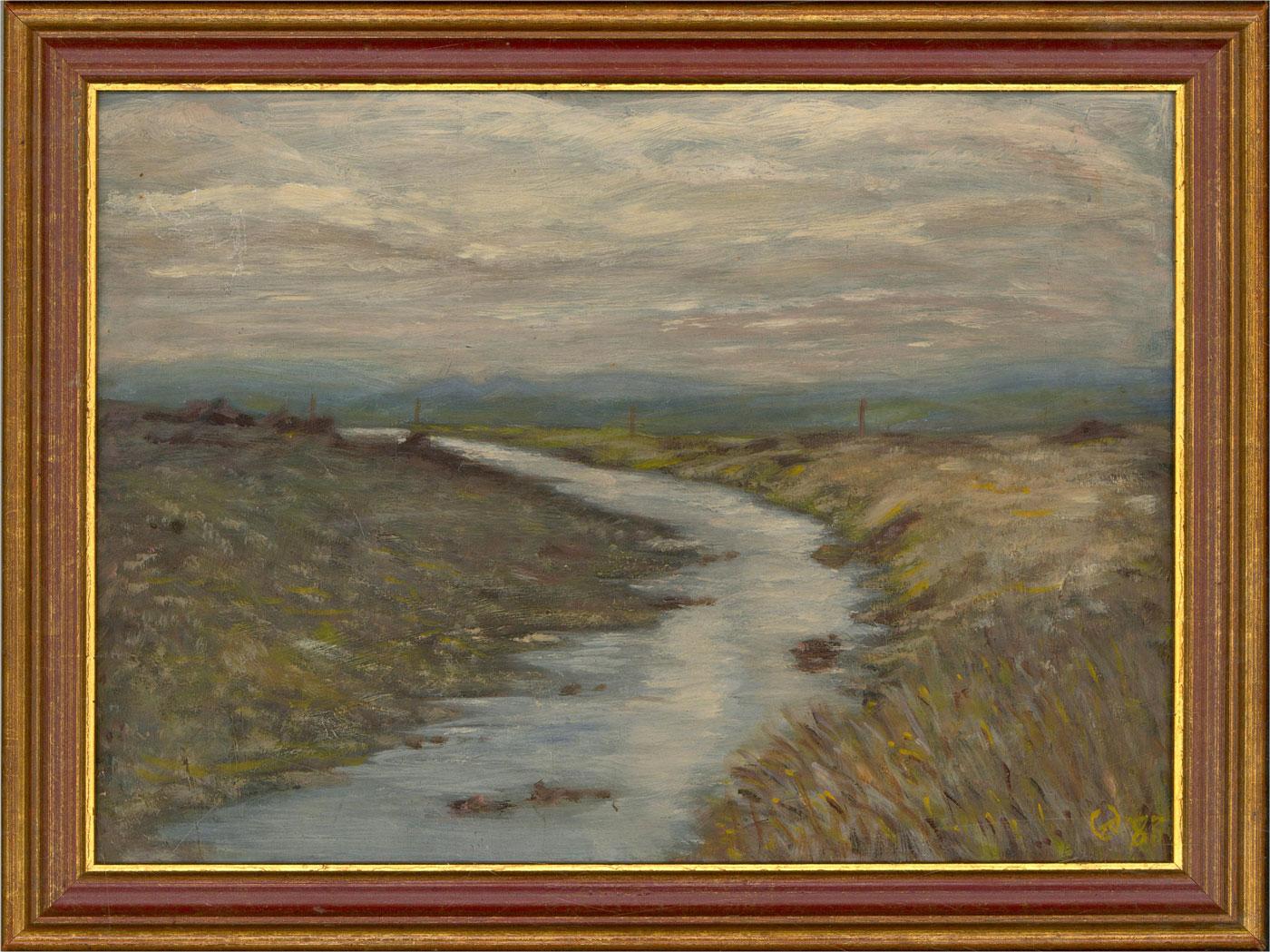 Framed 1983 Oil - winter River
