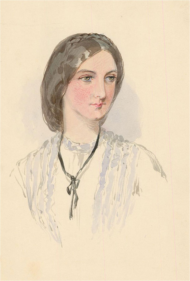 Late 19th Century Watercolour - Young Victorian Woman