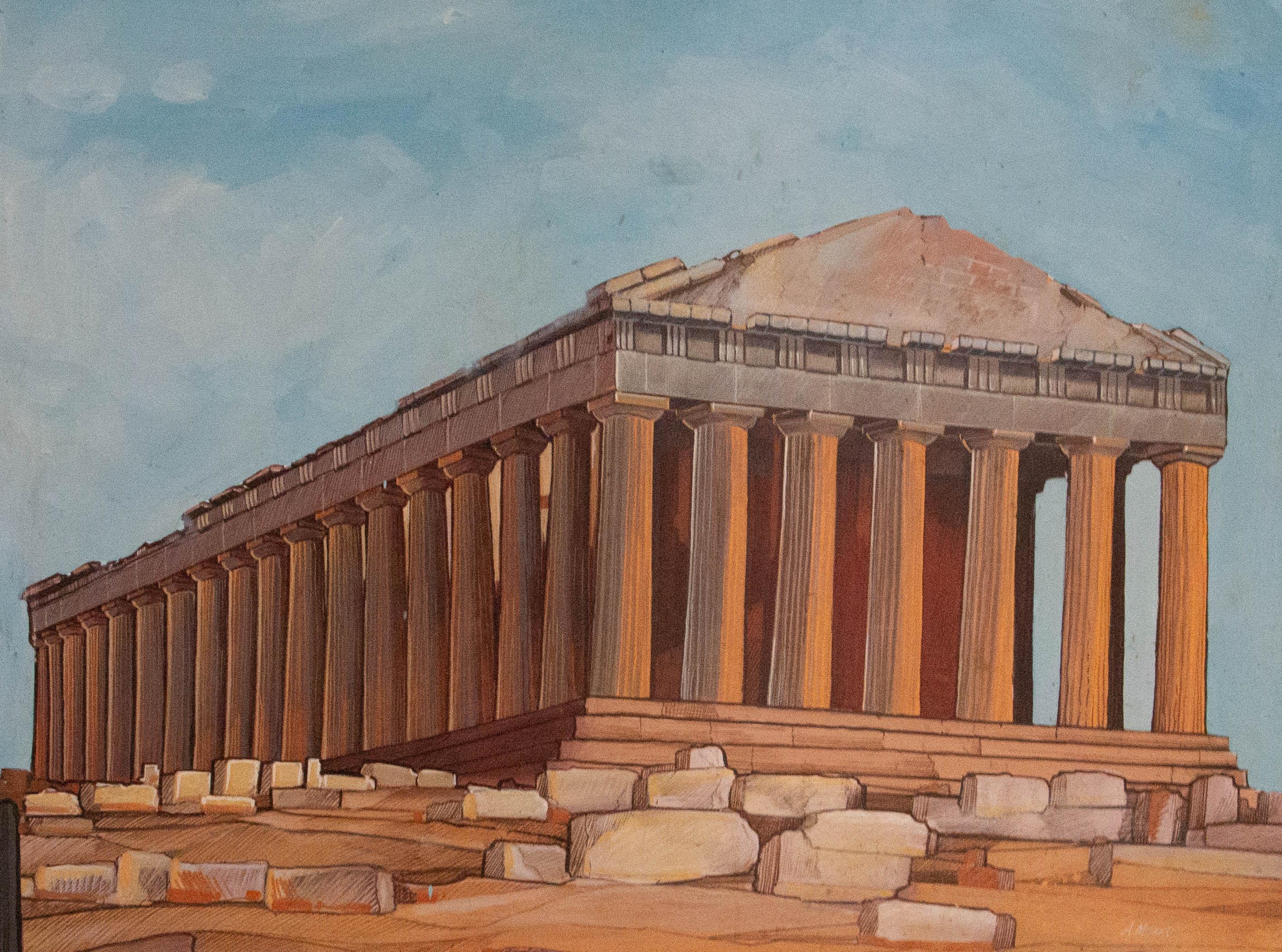 A. Mpiako - Contemporary Acrylic, The Parthenon